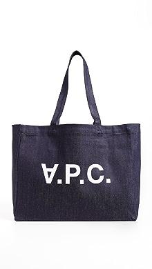 아페쎄 A.P.C. Daniel Tote Bag,Indigo