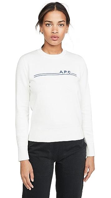 A.P.C.  Pull Eponyme 开司米羊绒毛衣