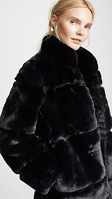 Apparis Sarah 绗缝仿皮毛大衣