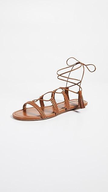 Aquazurra Stromboli 平底凉鞋