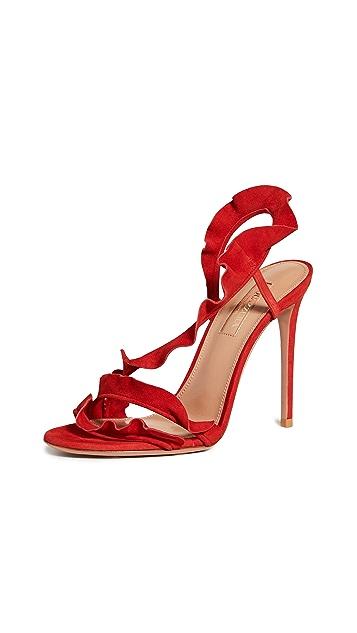 Aquazurra 荷叶边 105mm 凉鞋