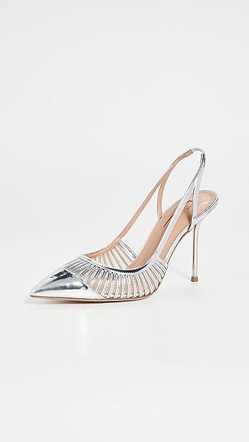 Aquazurra Zana 95mm 露跟浅口鞋