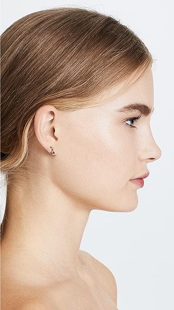 Ariel Gordon Jewelry 14K 樱桃红宝石 Bomb 耳钉
