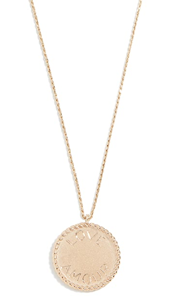 Ariel Gordon Jewelry 14K 皇家圆片 Love Amour 项链