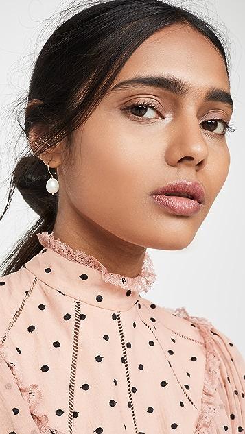 Ariel Gordon Jewelry 14k 珍珠圈式耳环