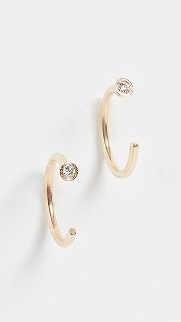 Ariel Gordon Jewelry 迷你菱形圈式耳环