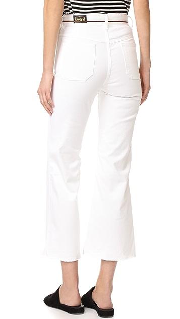 白羊座 Indy 斜纹织物喇叭牛仔裤