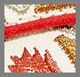 米白色/珊瑚红