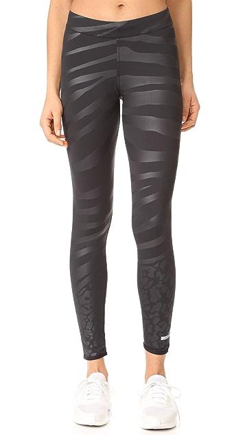 adidas by Stella McCartney Run Zebra 贴腿裤