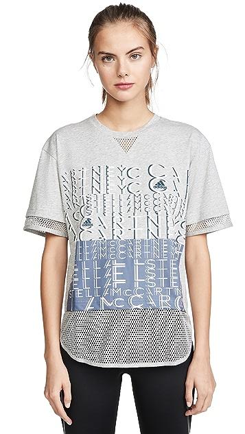 adidas by Stella McCartney 徽标 T 恤