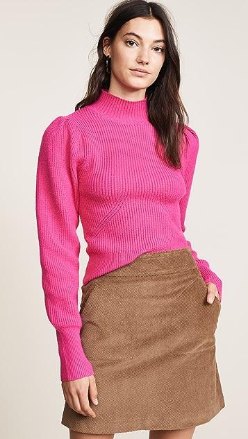 ASTR 标签 泡泡袖毛衣