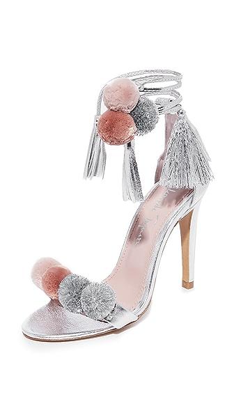Alameda Turquesa Anna 绒球环绕式凉鞋