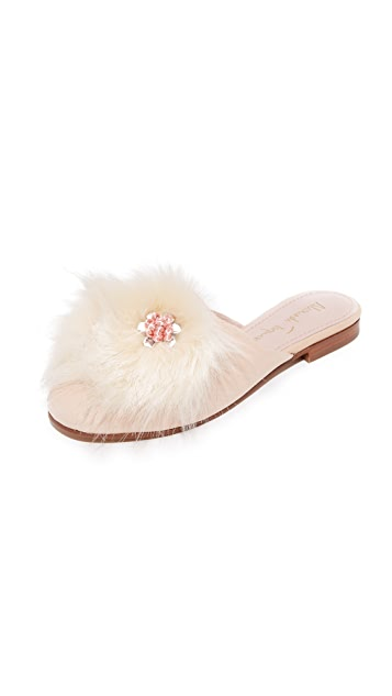 Alameda Turquesa 毛绒穆勒便鞋
