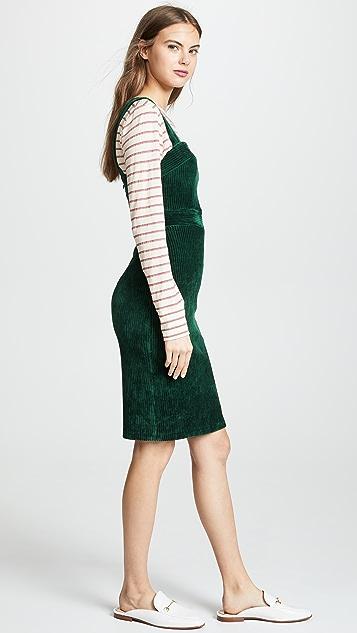 Amanda Uprichard 灯芯绒套头连衣裙
