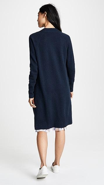 Autumn Cashmere 镂空开司米羊绒及地开襟衫