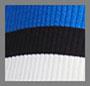 蓝色缎带/黑色/漂白
