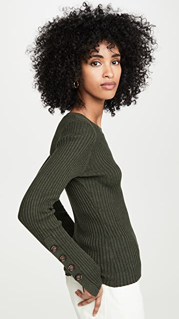 Autumn Cashmere 罗纹圆领套头衫