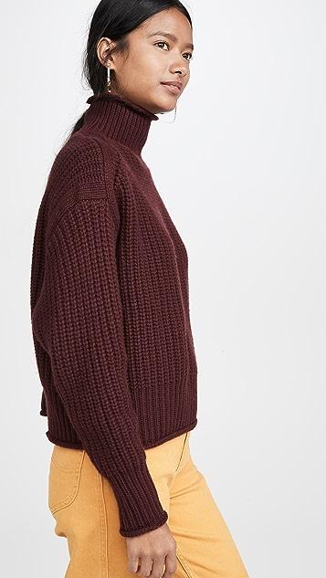 Autumn Cashmere 厚实松垮开司米羊绒毛衣