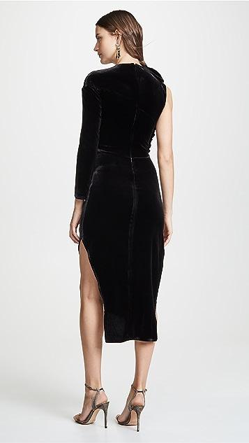 A.W.A.K.E.  不对称荷叶边连衣裙