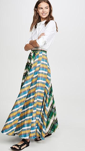 A.W.A.K.E MODE Duncan 混合条纹半身裙