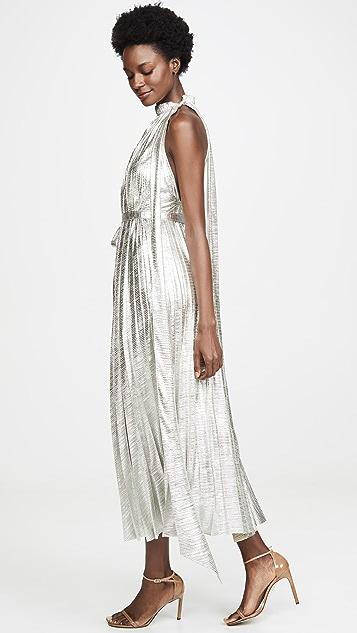 A.W.A.K.E MODE Oyster 金属质感连衣裙