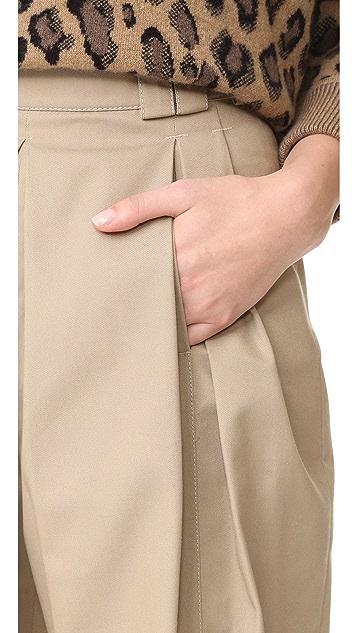 Alexander Wang 正面褶皱腰带环设计高腰裤