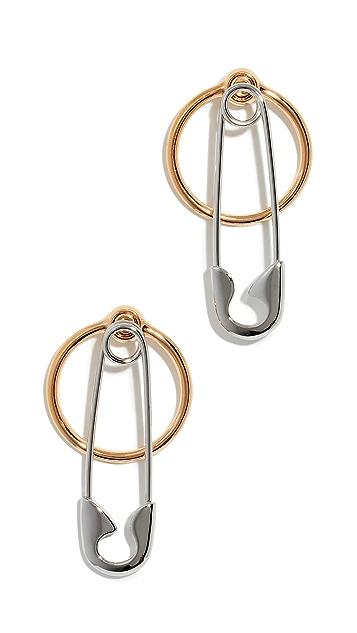 Alexander Wang 安全耳针 + 圈式耳环