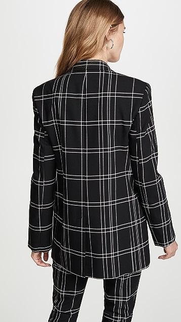 Alexander Wang 皮镶边尖翻领夹克