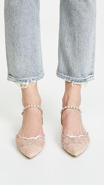Badgley Mischka Lennon 脚踝固定带平底鞋