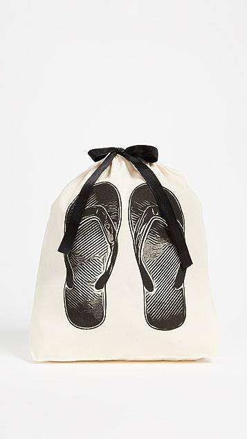 Bag-all 夹趾凉拖图案有型包
