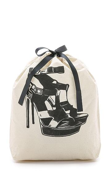 Bag-all 高跟凉鞋图案有型包