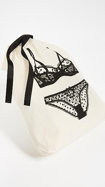 Bag-all 圆点花纹内衣图案有型包