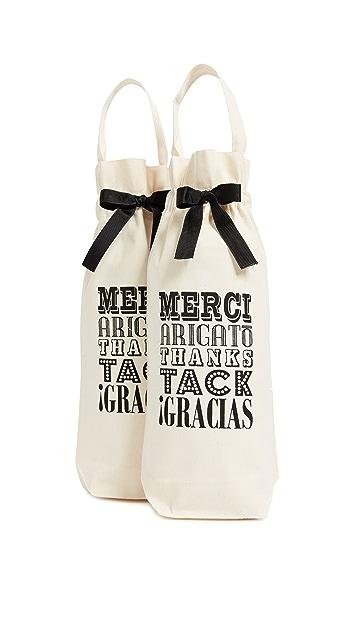 Bag-all 2 件式 Merci! 酒袋