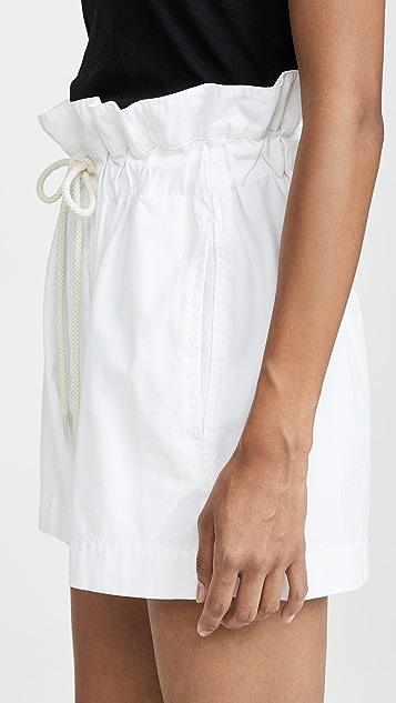 Bassike 帆布休闲纸包短裤