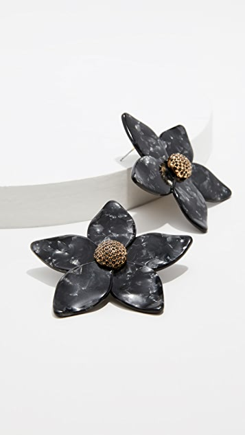 装饰条扣 Adelissa 花朵树脂耳环