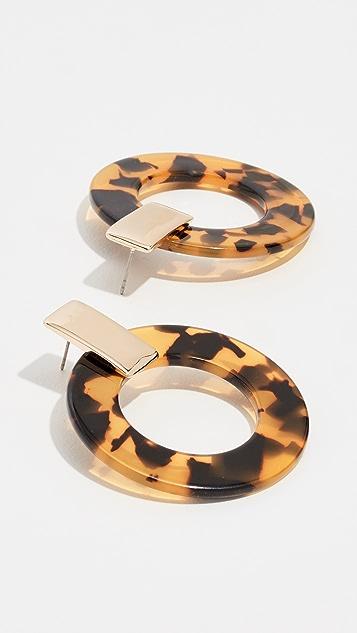 装饰条扣 Torrie 树脂圈式耳环