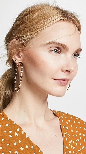 装饰条扣 Elise 圈式耳环