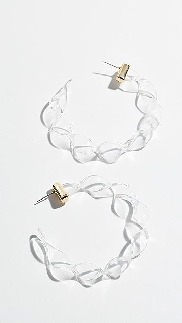 装饰条扣 Delphia 扭褶圈式耳环
