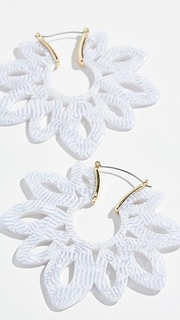 装饰条扣 Rita 树脂吊坠耳环