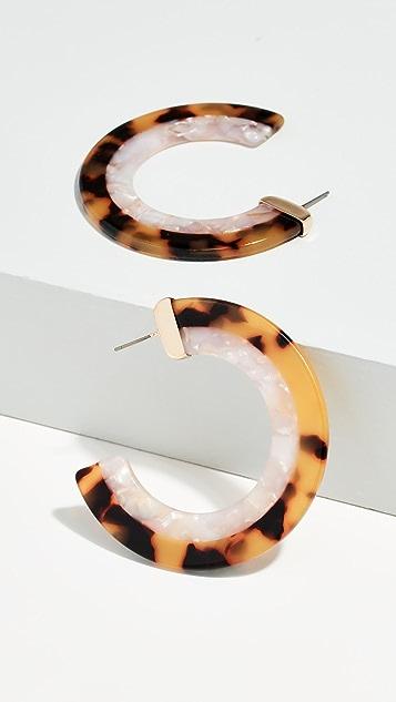 装饰条扣 Deisy 树脂圈式耳环