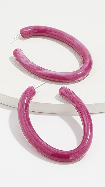 BaubleBar Pernille 树脂圈式耳环