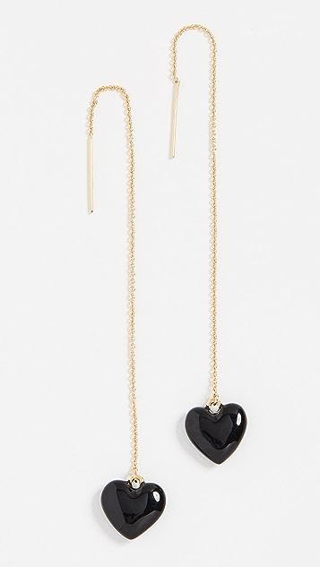 BaubleBar 珐琅心形吊坠耳环