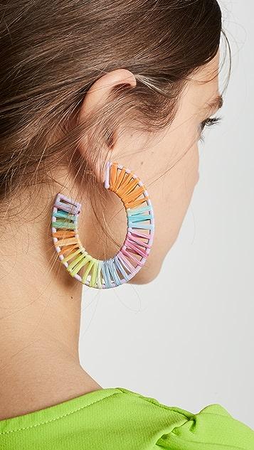 BaubleBar Renatta Rafia 圈式耳环