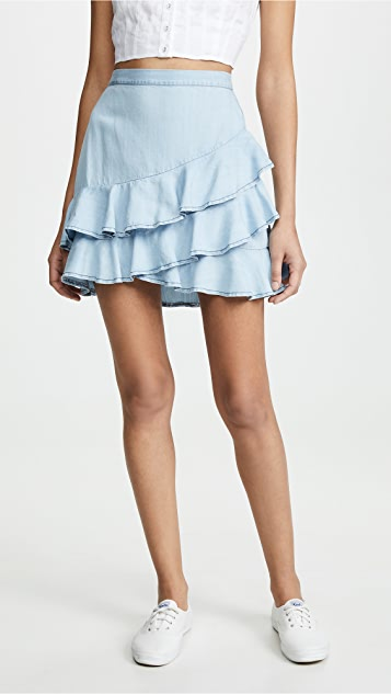 BB Dakota 荷叶边半身裙