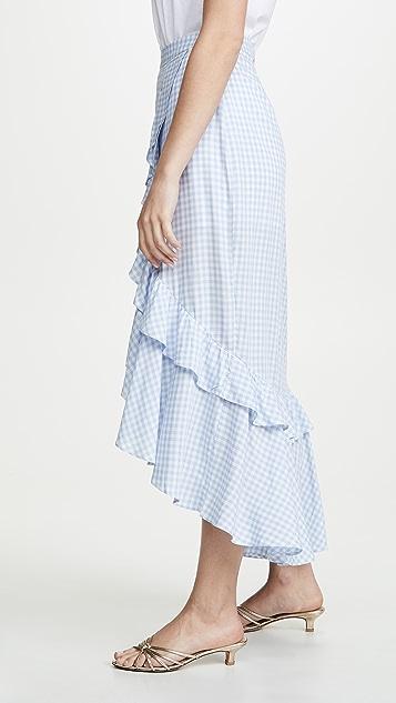 BB Dakota Go 格子虎纹半身裙