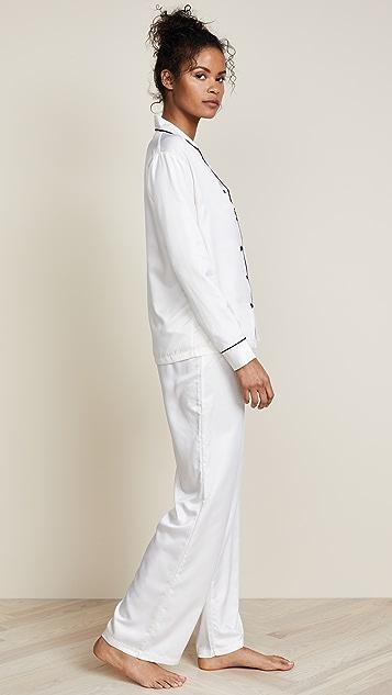 蓝色贝拉 Claudia 衬衣和裤子套装