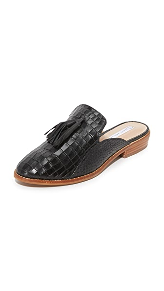 blank canvas Croco Mule 流苏便鞋