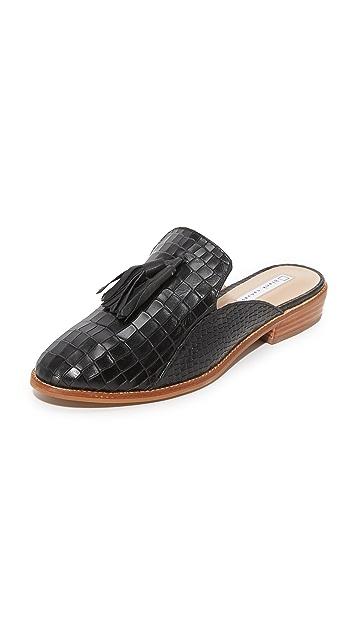blank 帆布凉鞋 Croco Mule 流苏便鞋