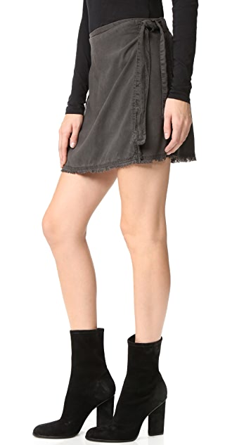 Bella Dahl 磨边裹身半身裙