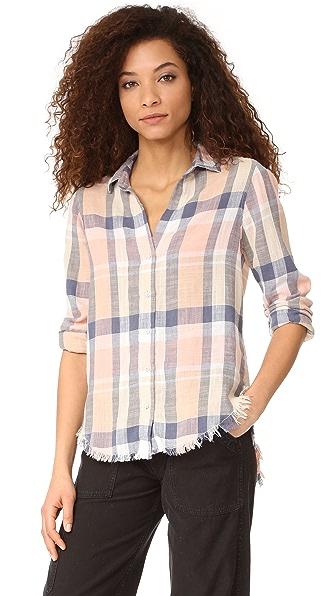 Bella dahl frayed hem button down shirt shopbop for Bella dahl plaid shirt